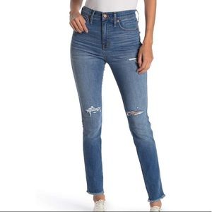 """Madewell 10"""" high rise skinny jeans whitlow 27"""